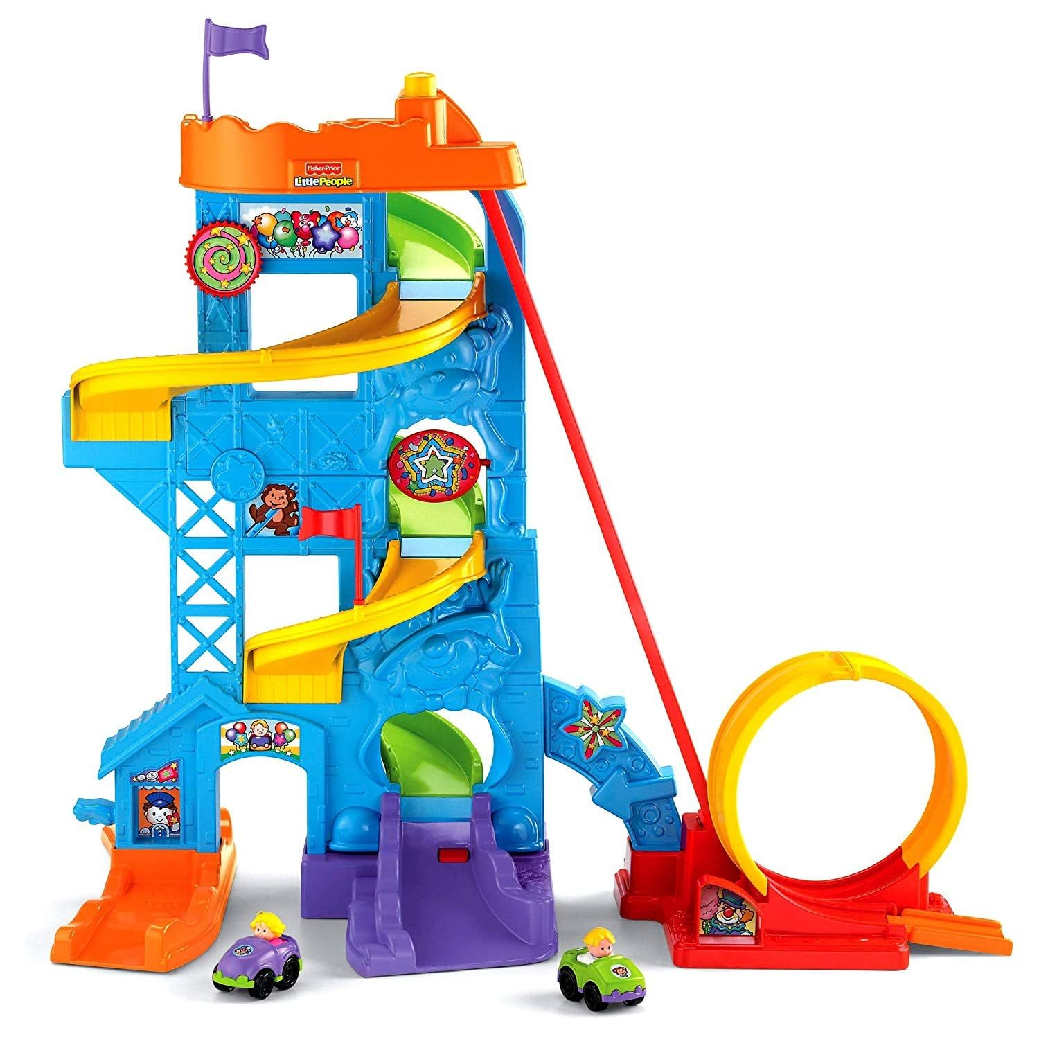 Fisher-Price Little People Loops 'n' Swoops Amusement Park ...