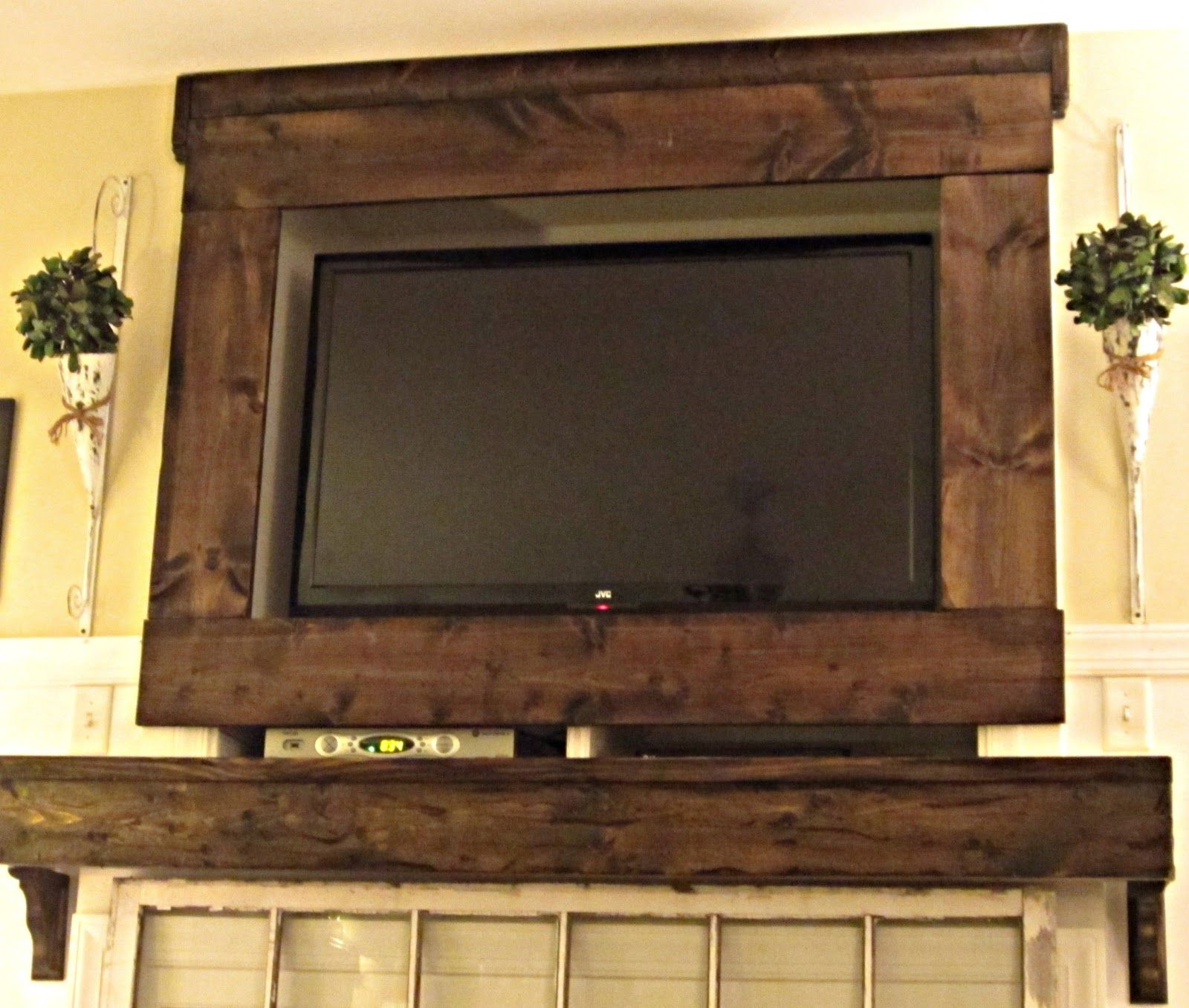 Tv Stained Barn Wood Frame