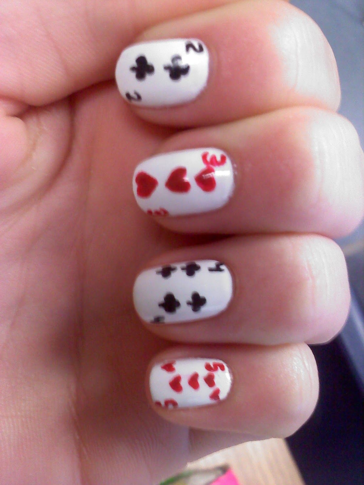 deck of card nails :) | Wonderland Madness! & Tea ;) | Pinterest ...