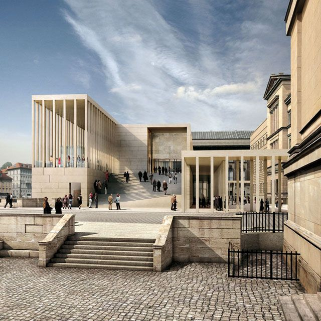 Galería James Simon- David Chipperfield- It's almost like modern greek architecture in a way
