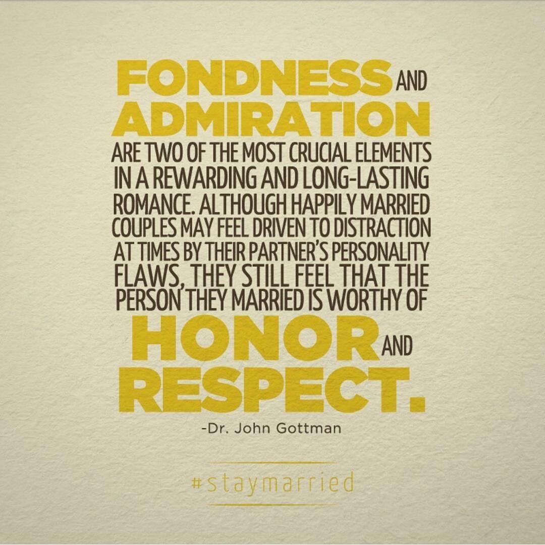 Admiration Respect Honor Gottman