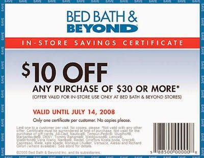Bed Bath  Beyond Printable Coupon  Percent Off InStore  Bed