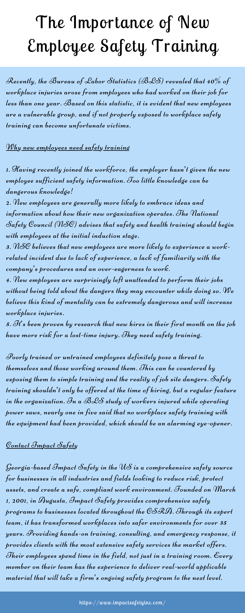 Impact Safety is a comprehensive source for businesses and