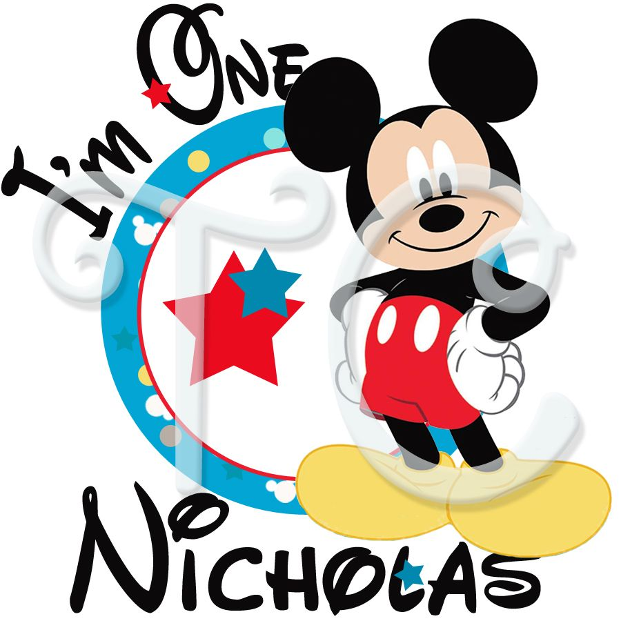 Mickey Mouse 1st birthday personalized t shirt Mickey