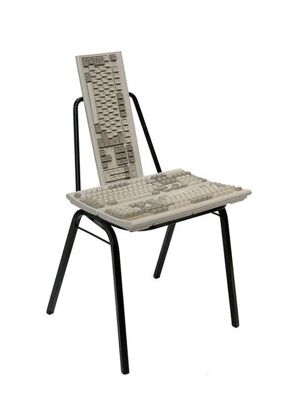 votre nouvelle chaise de bureau recyclage bricolages informatiques pinterest chaises. Black Bedroom Furniture Sets. Home Design Ideas