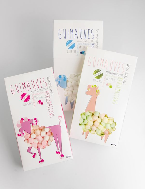 Guimauves Miniature Marshmallows - Packaging Insider. The cutest marshmallow #packaging you ever saw : ) PD