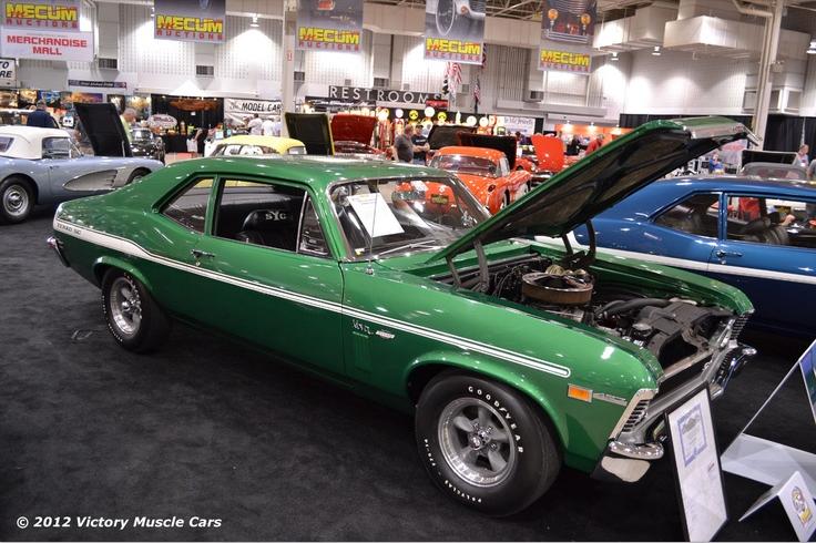 1969 Chevrolet Nova Yenko Syc 427 Cid 425 Horsepower Big Block Rallye Green With White Stripes At Mecum A Chevy Muscle Cars Chevrolet Nova Muscle Cars Camaro