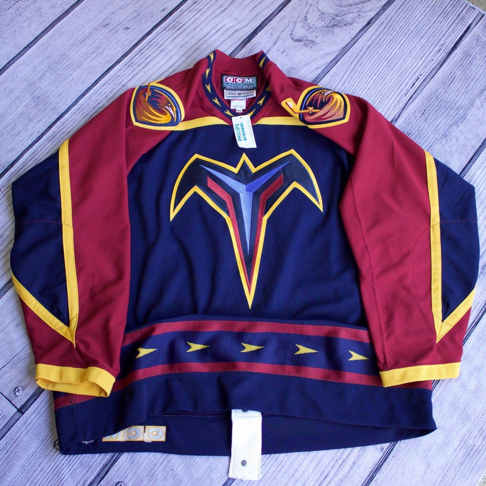 Authentic Atlanta Thrashers Size 56 CCM Rare 1999 00-2002 03 Jersey Road 0c0a69467