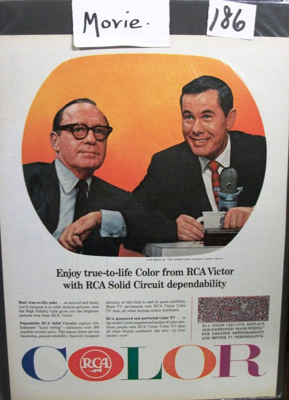 """Movies ...-186  """"Jack Benny * Johnny Carson for RCA Victor Television Ad  - March 1965"""