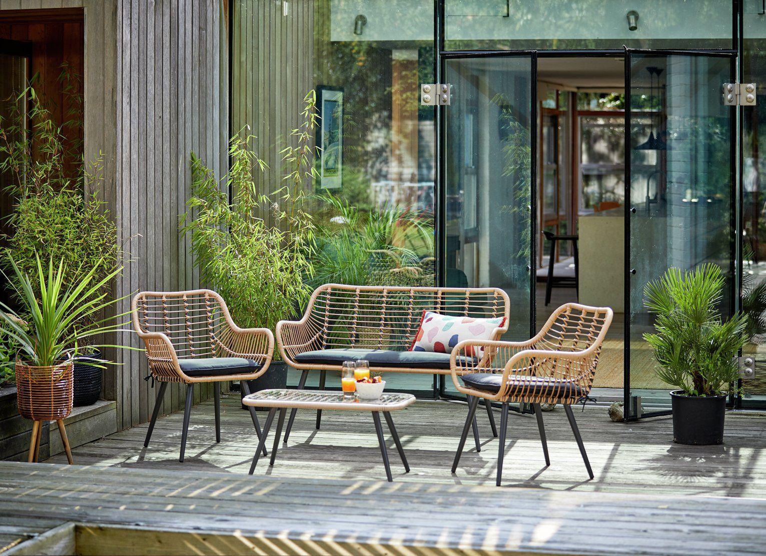 Buy Argos Home 4 Seater Bamboo Sofa Set Patio sets