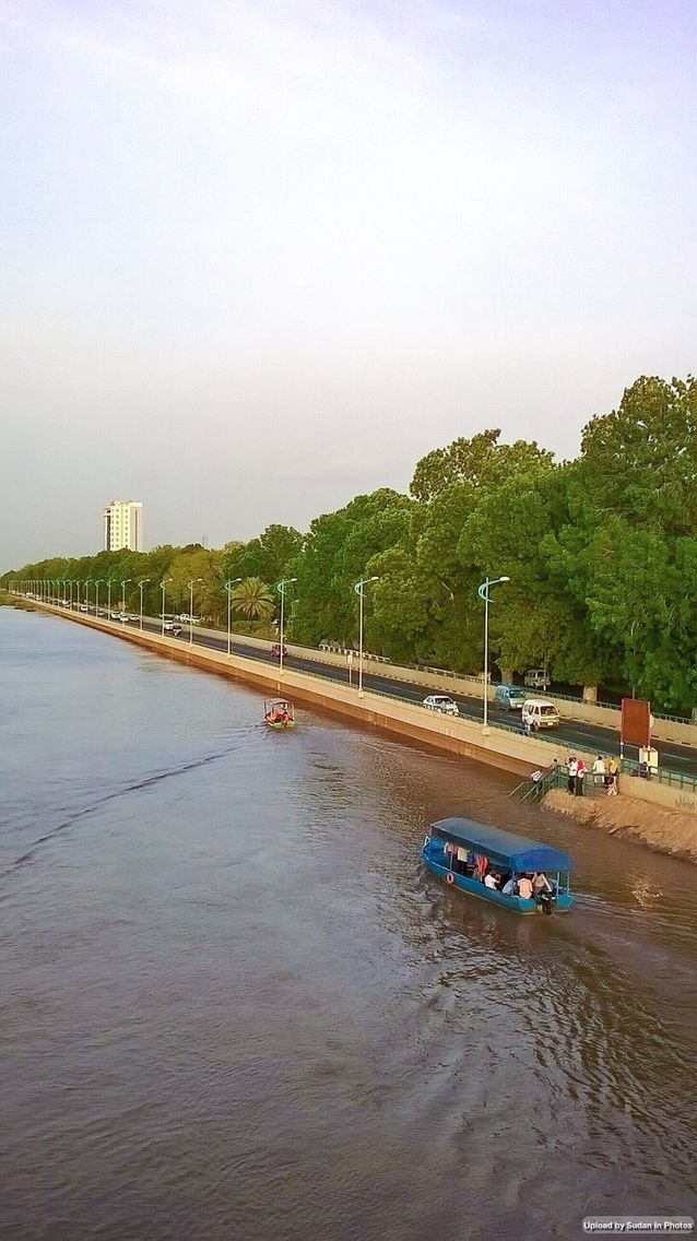 Nile Street And The Blue Nile Khartoum شارع النيل و النيل الأزرق الخرطوم By Alkharashy Sudan Khartoum Khartoum Southern Africa The Beautiful Country