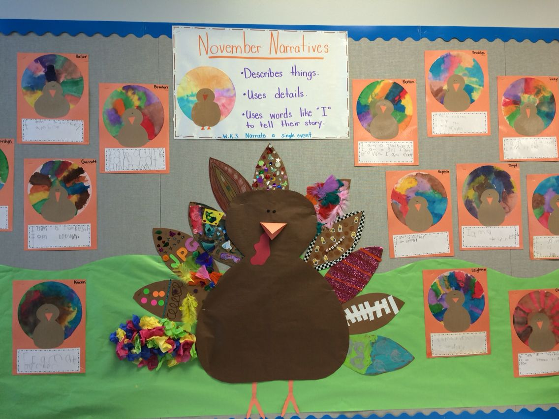 Our Classroom Turkey Each Student Was Given A Feather To