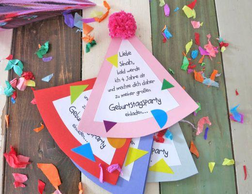 Photo of Kommt wir basteln coole Partyhut Einladungen. – DEZENTPINK – DIY Ideen für Kinder