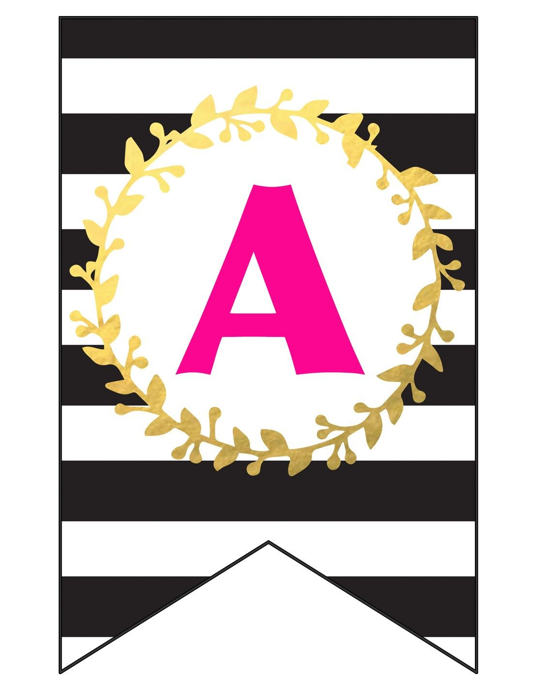 Free printable happy birthday banner and alphabet with