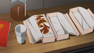 Individually packaged dorayaki in The Idolm@ster