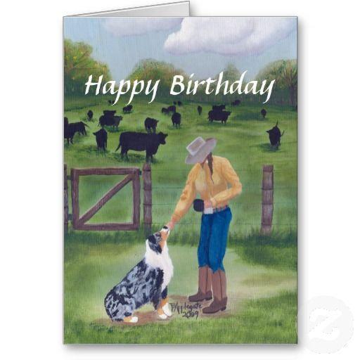 Australian Shepherd Happy Birthday Card Zazzle Com Happy Birthday Greetings Happy Birthday Greeting Card Birthday Greeting Cards