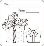 Christmas Gift Tags To Color Free Printable For Kids Coloring Pages