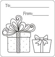 Christmas gift tags to color, free printable gift tags for