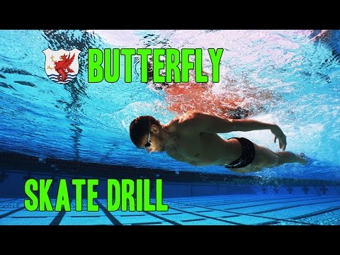 Swimisodes Improve Butterfly Technique Skate Drill Youtube