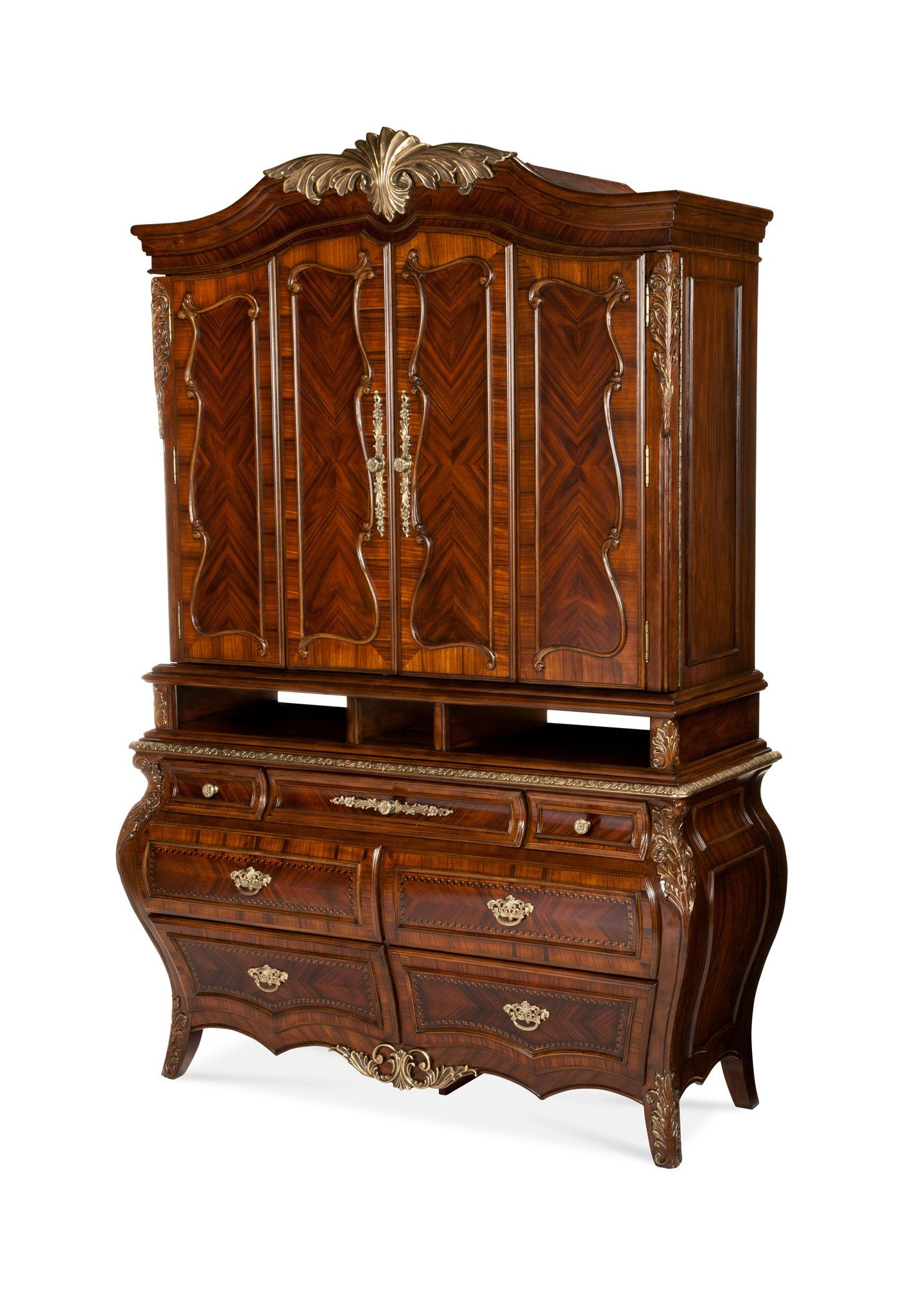 Imperial Court Media Cabinet Radiant Chestnut 79095 40