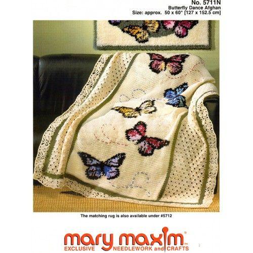 Mary Maxim Butterfly Dance Afghan Pattern 399 Crochet Ideas