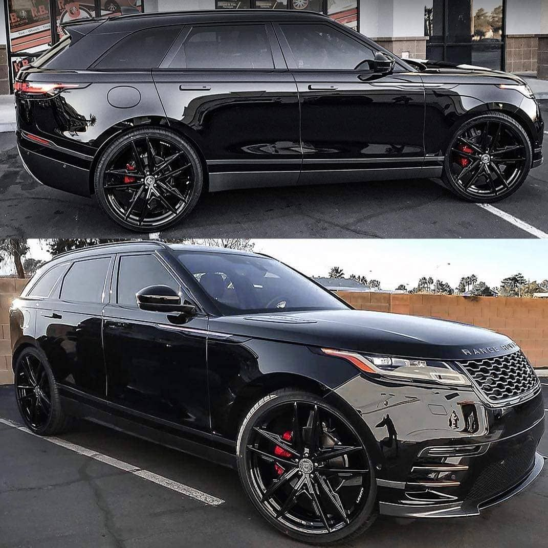 Range Rover Velar 120k On Instagram Blacked Out Velar Sitting On 24 Lexani Wheels Dream Cars Range Rovers Range Rover Luxury Cars Range Rover