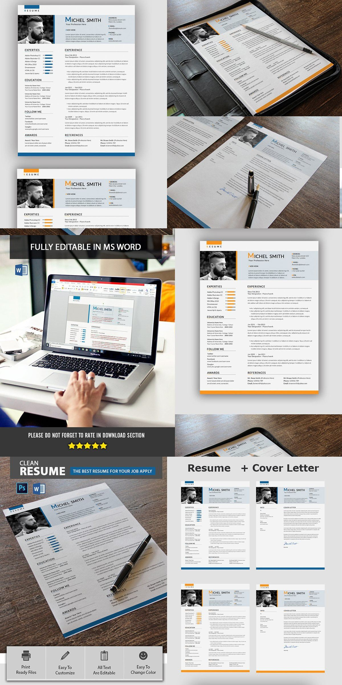 Resume Template Resume template, Simple resume template