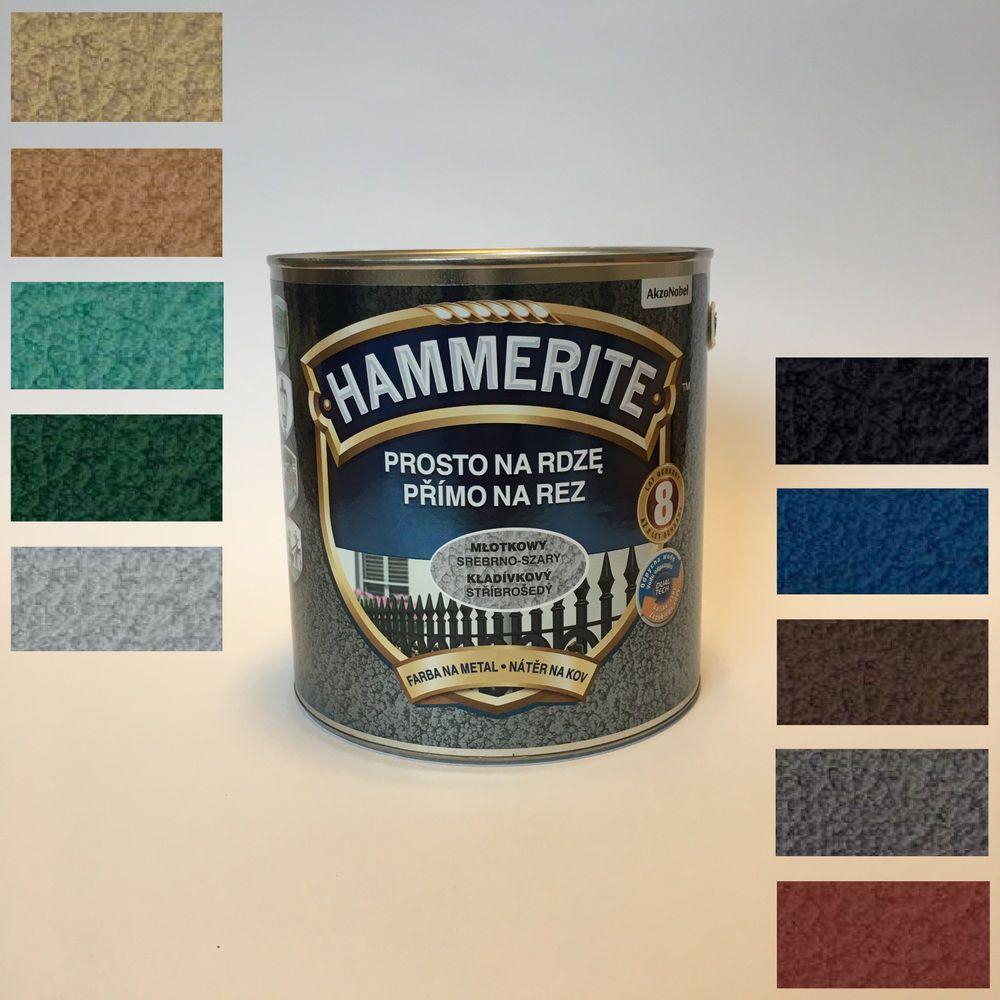 Hammerite Metallschutz Lack Rostschutz 2 5 L Hammerschlag
