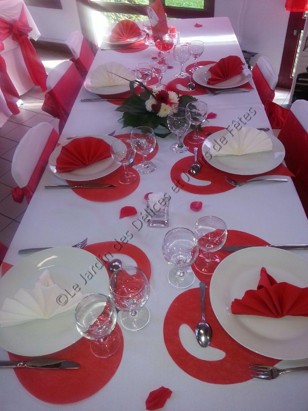 Decoration De Table Rouge Et Blanc #5: Afficher Lu0027image Du0027origine