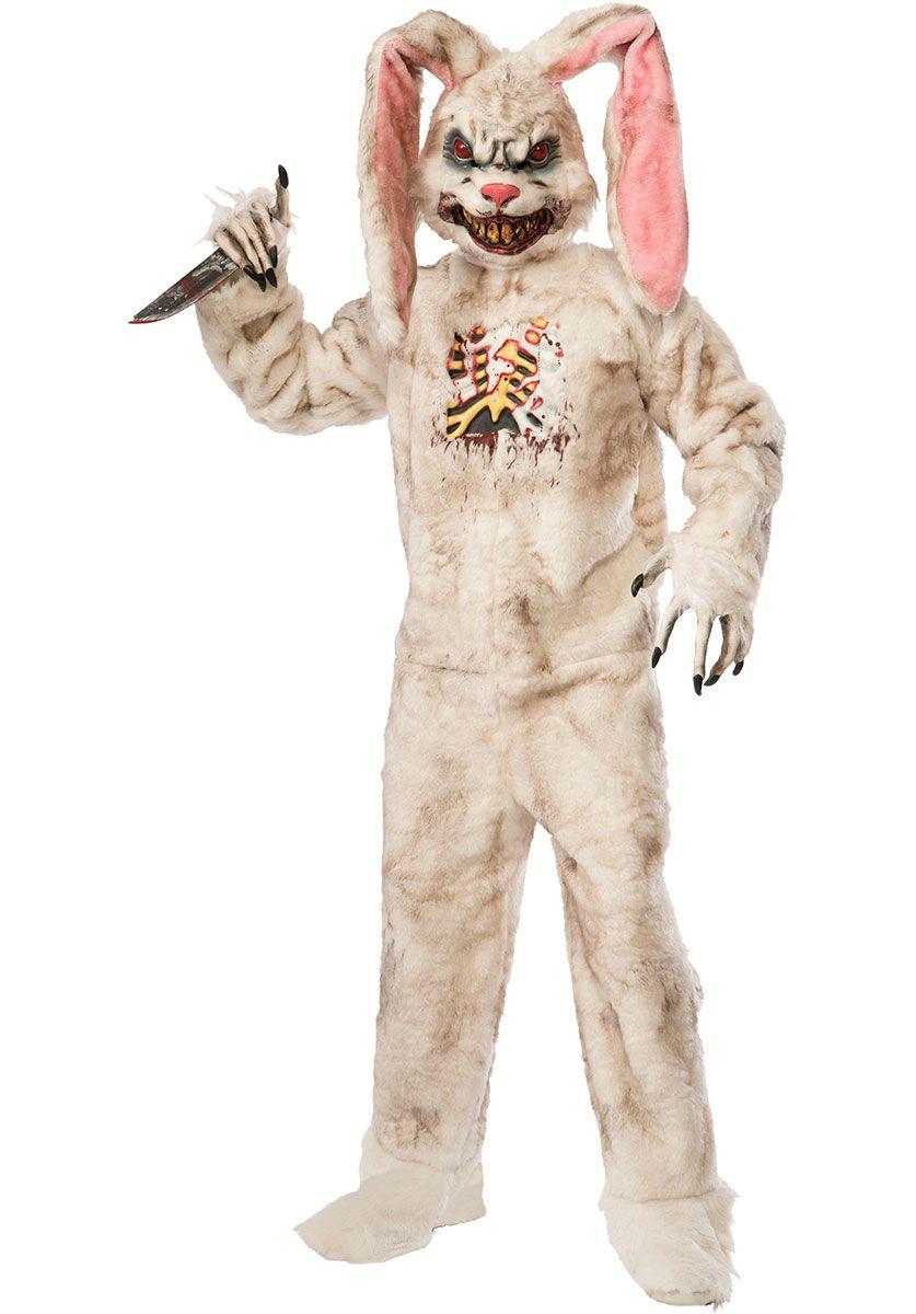 killer white rabbit evil easter bunny unisex dress