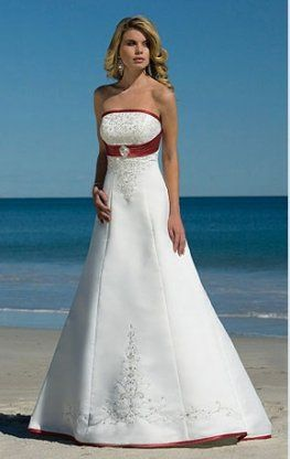63607ff382f1 white and red beach wedding dresses | different wedding dress ideas ...