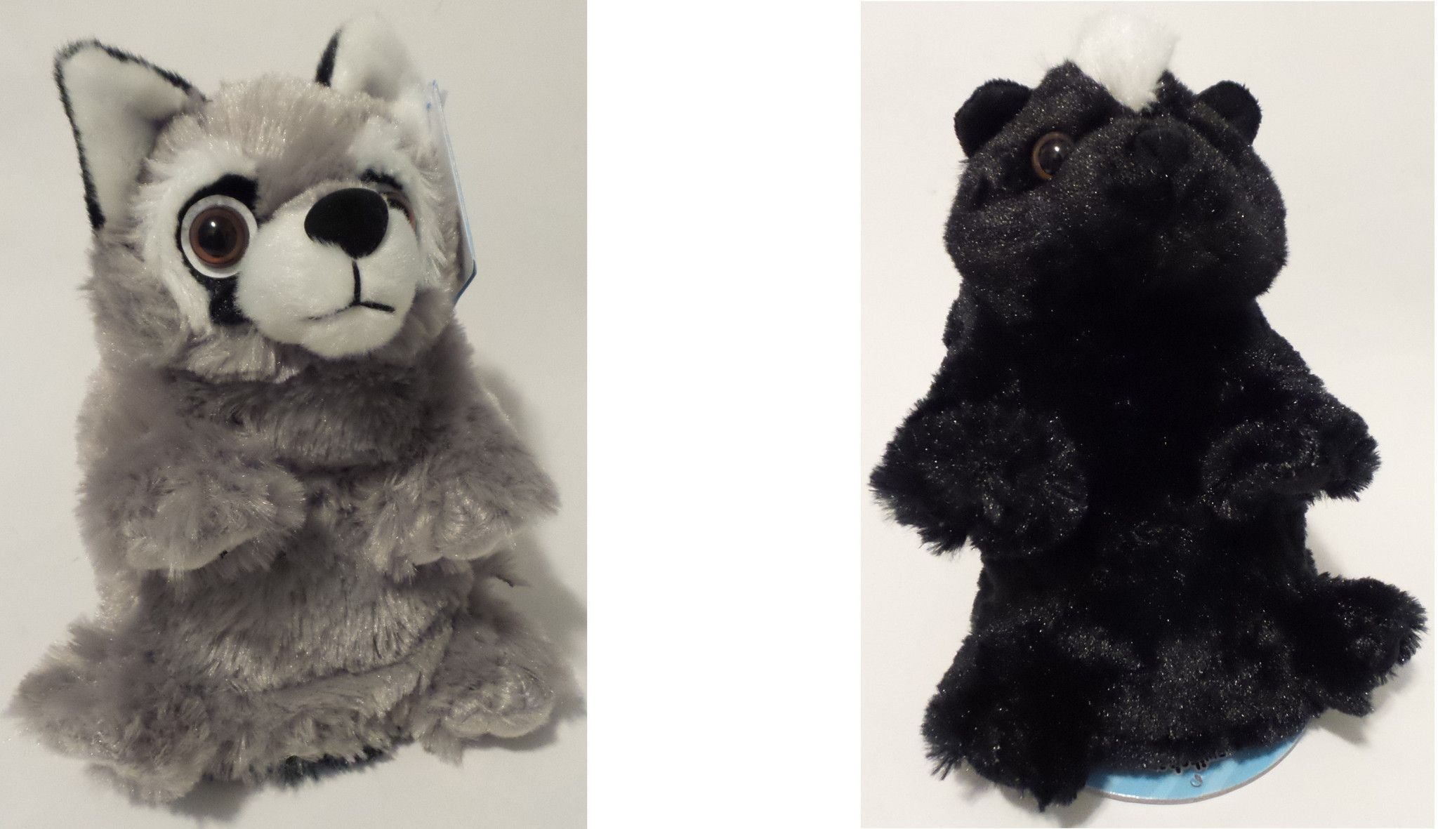 Wild Republic Switch A Rooz Reversible 7in. Plush Toy Bandit the Raccoon and Blooms the Skunk