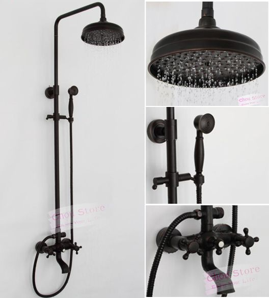 Bathroom Fixtures For Shower oil rubbed bronze bathroom rain shower faucet set shower kit b18f