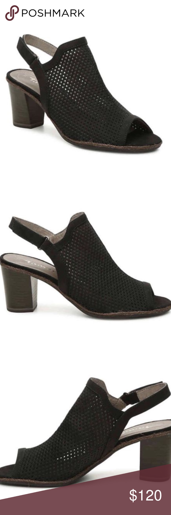 NEW Tamaris Women Wortmann Peeptoe Sandal Size 5.5 Tamaris