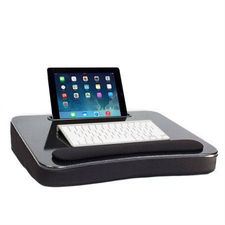 Sofia+Sam All Purpose Memory Foam Lap Desk with Wrist Rest and Tablet Slot, Sparkle Top, Black