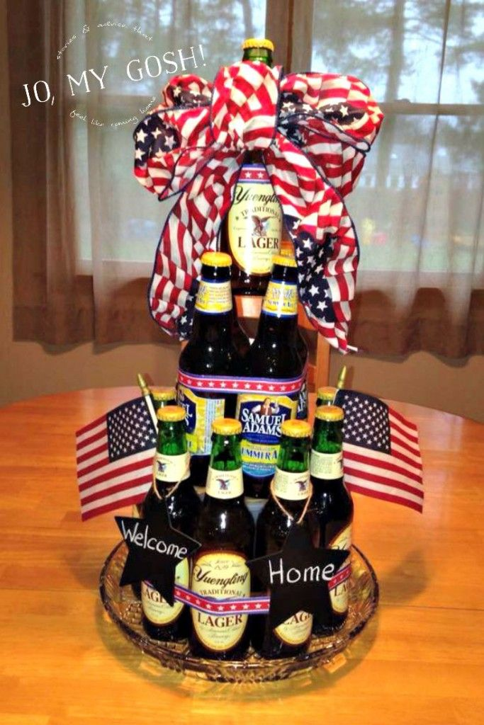 How To Make A Welcome Home Beer Cake For Homecoming Care Package