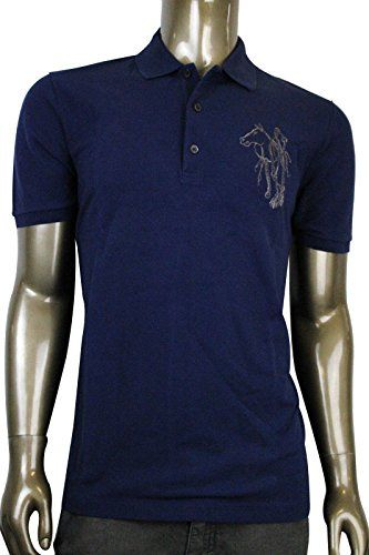 64a977c6668 GUCCI Men S Cotton Top Embroidered Horse Slim Fit Polo Shirt 338567.  gucci   cloth