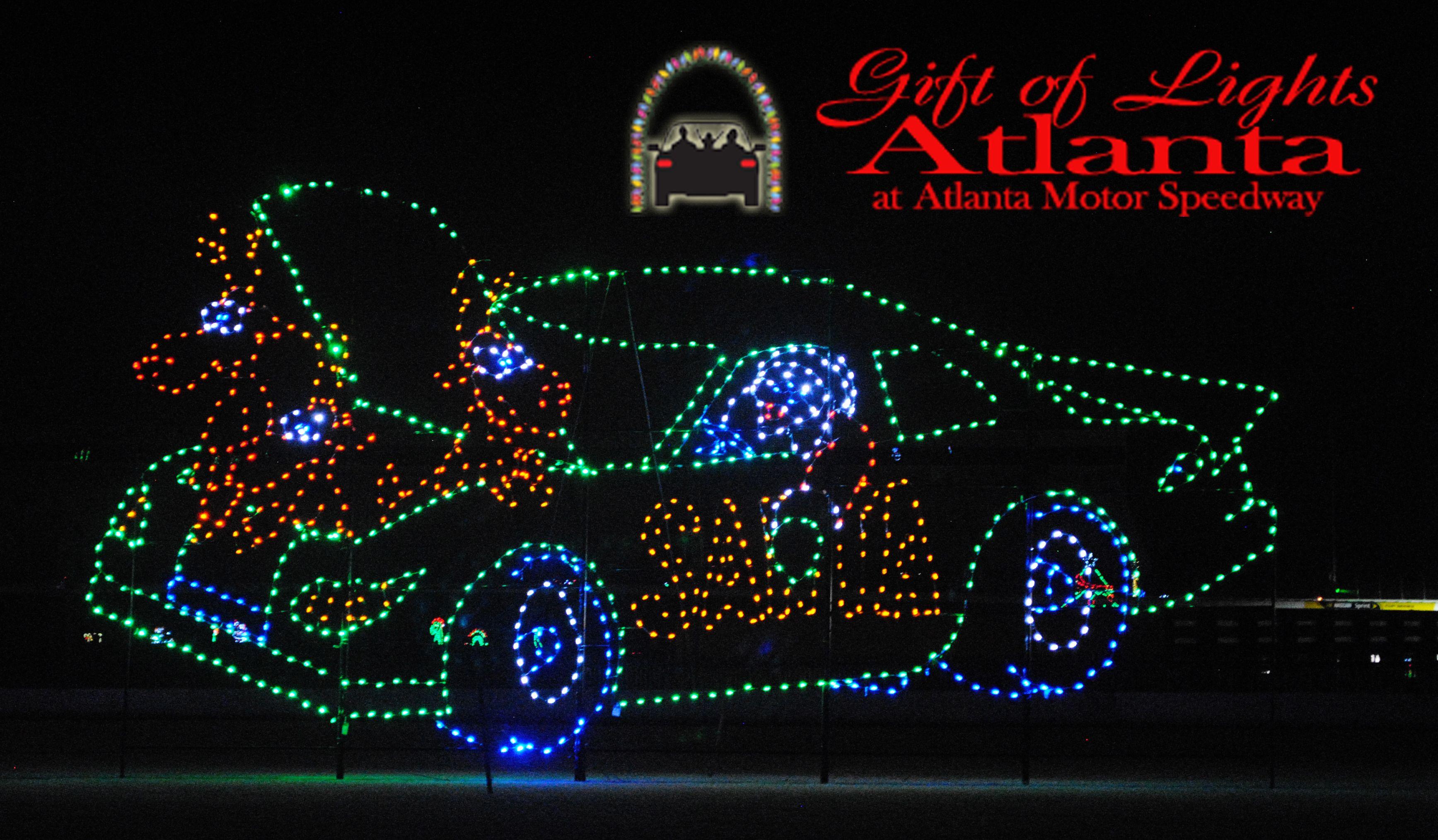 Atlanta Motor Speedway Christmas Lights - Christmas Decor and Lights