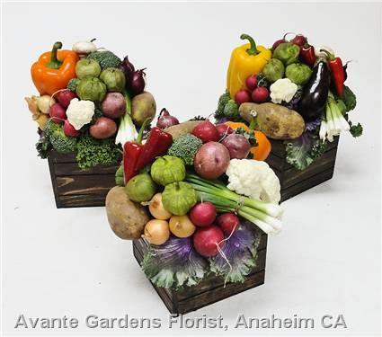 Vegetable Centerpieces for a PMA Event