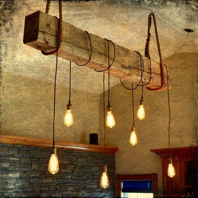 1930s structural beam Edison bulb light fixture project images