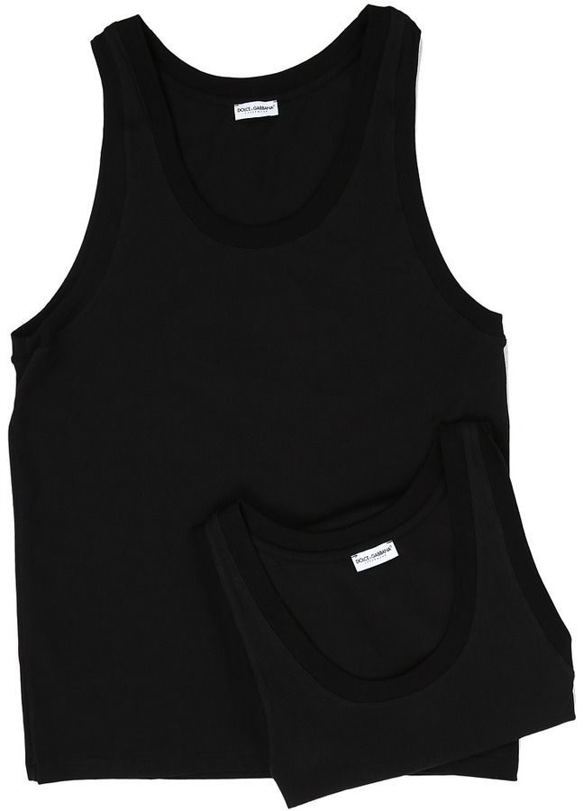 Dolce /& Gabbana Mens Day by Day Bi Pack Tank Top 2-Pack
