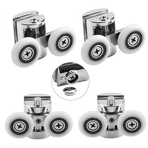 Multiware Shower Door Wheels 23mm Shower Door Rollers 4pcs 2 Top
