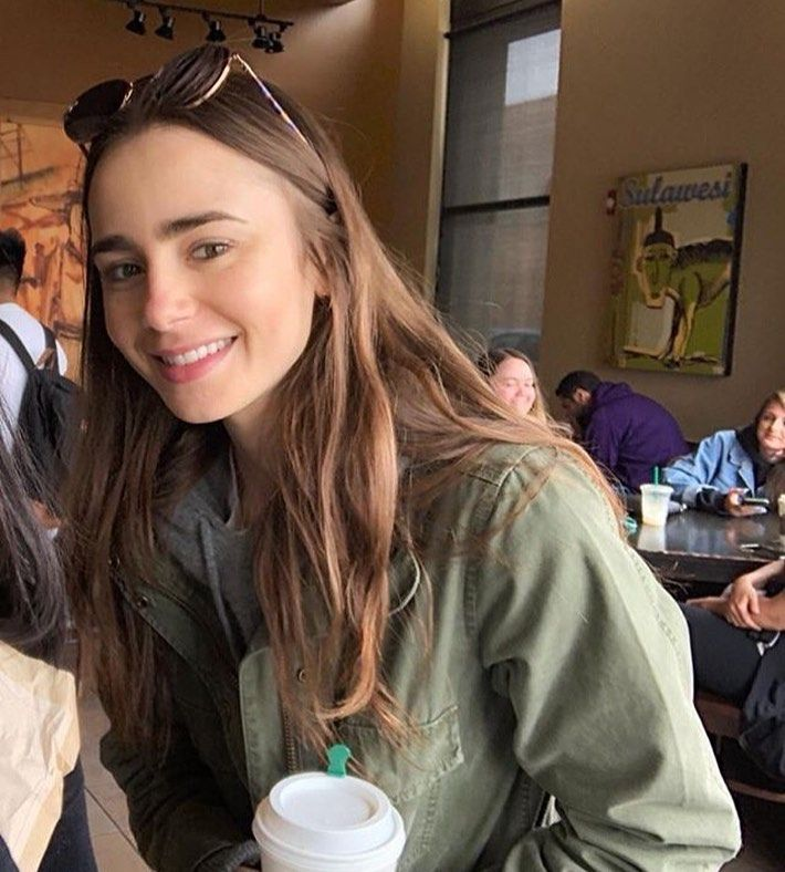 """Lily Collins News �� on Instagram: """"Morning � #lilycollins"""""""