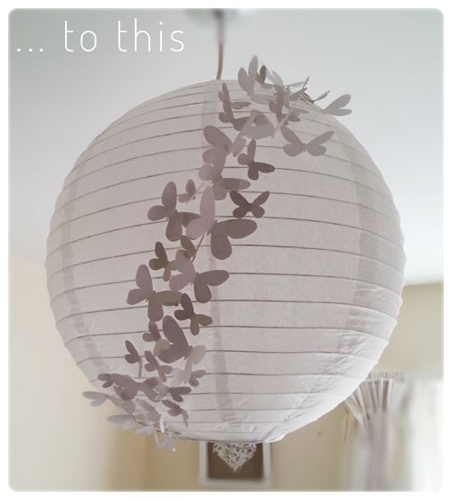Making a lamp from paper lantern paper lantern recycled lampshade upcycle - Lanterne papier ikea ...