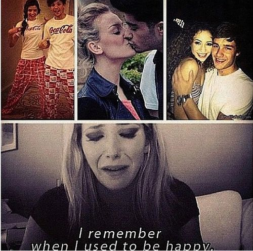 I remember when I used to be happy. But then their girlfriends came along. But I do love Eleanor, Perrie, And Danielle