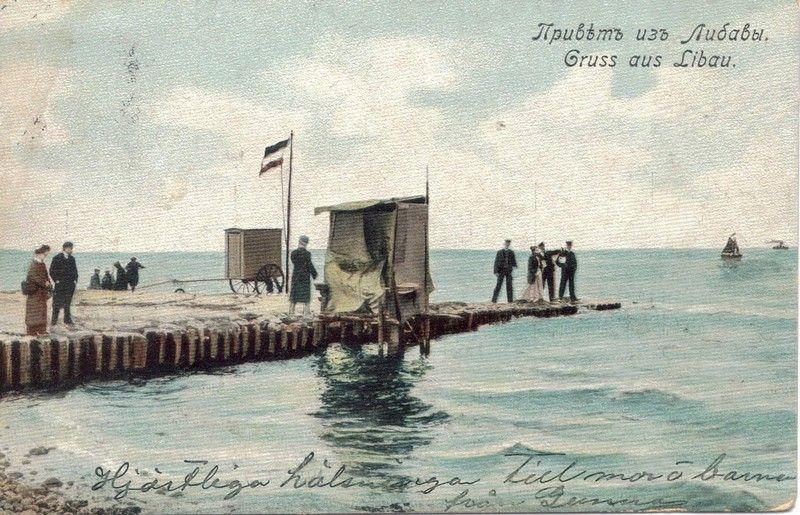 Gruss aus Libau. postcard. 1907.