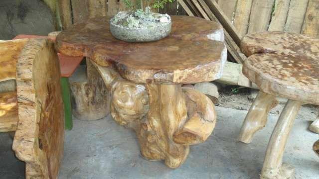 fabrica de muebles rústicos en madera y troncos en vasquez de muebles