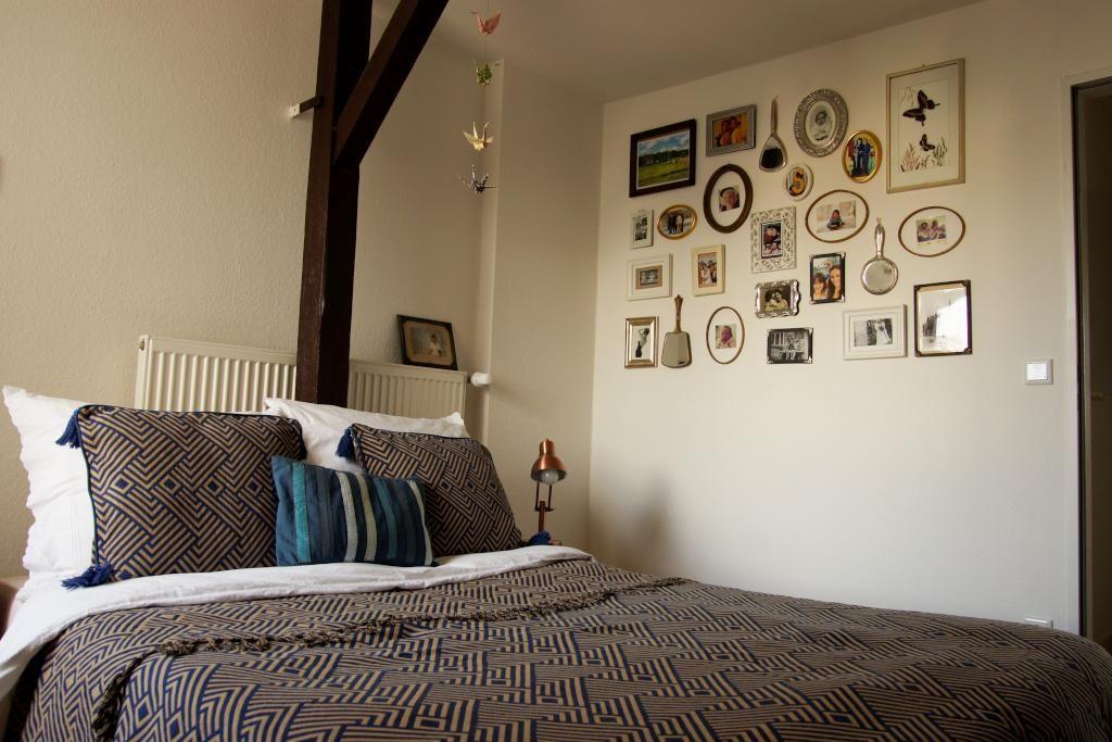 Wandgestaltung Hamburg schlafzimmer mit doppelbett und fotowand schlafzimmer einrichtung