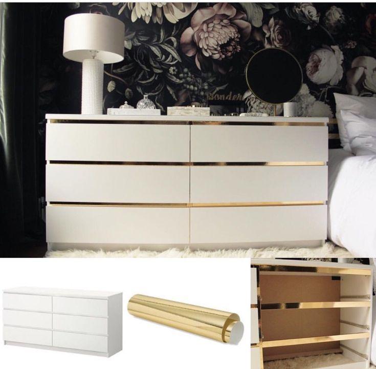 Schlafzimmer Kommode. Vielleicht in Grau / Gold kommode