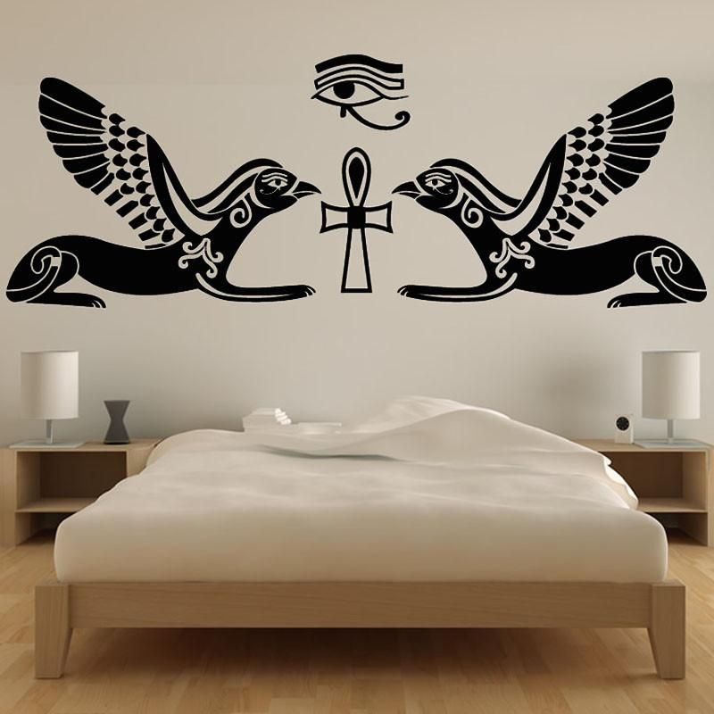egyptian wall art sticker | products | pinterest | home decor, home
